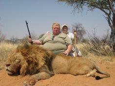 Bastards ~ Take away the guns and the outcome would be very different. #WorldLionDay