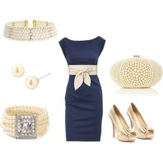 Navy and pearls? Perfect class.