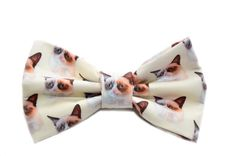 Grumpy Cat Bow Tie - Novelty Bow Tie with Adjustable Strap on Etsy, $13.99