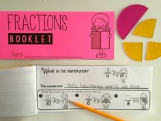 Fractions booklet. Need help teaching your students the vocabulary associated with fractions? This booklet explains fraction words and provides your student with some practice.