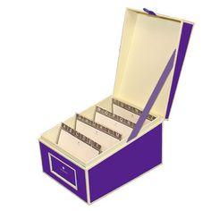 Cute business card organizer bizzniss pinterest organizations semikolon plum index card box smk3220018 colourmoves