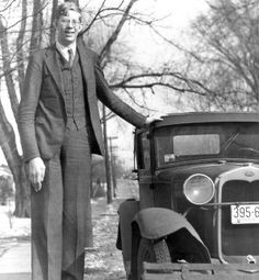 At 18 years old, Robert Wadlow gets his photo taken. Photo courtesy of Steve Cox