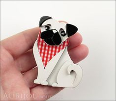 retailer of Erstwilder Jewelry and Accessories: Petit Ami - Adoring Polly Pug Accessories Store, Fashion Accessories, Round Gift Boxes, Pin Up Style, My Style, Pug Pictures, Dog Pin, Makers Mark, Hair Pieces