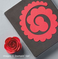 Easy Paper Flowers from Stampin' Up! is part of Easy paper flowers - The Spiral Flower Die from Stampin' Up! turns card stock into paper flowers quickly and easily Check out the video demonstration Easy Paper Flowers, Paper Flowers Wedding, Felt Flowers, Diy Flowers, Fabric Flowers, Flower From Paper, Paper Flower Vase, Felt Roses, Flower Diy