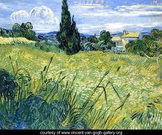 Wheatfield with Cypress - Vincent Van Gogh - www.vincent-van-gogh-gallery.org