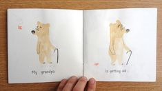 Spread from the 'My Grandpa' dummy by Marta Altés