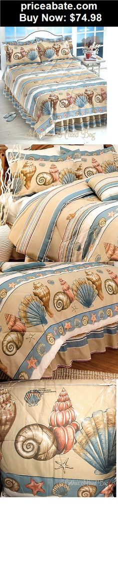 Kids-Bedding: SEA SHELL Beige Comforter Set TROPICAL BEACH COASTAL Twin Full Queen King Size - BUY IT NOW ONLY $74.98