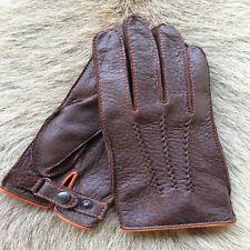 Herren Lederhandschuhe Sonderausgabe Peccary Handschuhe Schwarz Braun Cognac