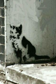Street art by Banksy - London.
