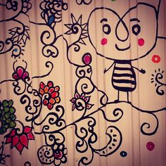 Awesome street art that looks 3Doodled? I would love this doodled on the walls of my apartment! #Doodle #Art #WhatWillYouCreate?