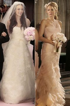 """""""Vera is an American designer, and Blair is an American princess."""" The stylist was instantly drawn to Serena's maid of honor look as well. """"I turned around and saw this beautiful pink chiffon gown, it was actually a bridal dress. It looked like peonies to me,"""" Daman said. """"In old world weddings, the bridesmaids would be wearing gowns, while the maid of honor would be wearing something a bit more glamorous."""