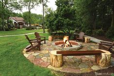 An outdoor fire pit would be a great addition to your back yard, patio or even for a campsite. Garden Fire Pit, Diy Fire Pit, Fire Pit Backyard, Backyard Patio, Backyard Seating, Fire Pit Decor, Design Cour, Outside Fire Pits, Fire Pit Landscaping