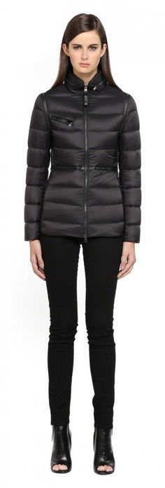 Mackage - IRMA-F4 BLACK LIGHT WINTER DOWN JACKET FOR WOMEN WITH LEATHER TRIMS