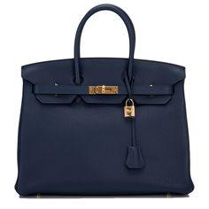 - Hermes Blue Sapphire Clemence Birkin Gold Hardware – Hermes Handbags – Ideas of Hermes Han - Hermes Birkin, Hermes Bags, Hermes Handbags, Luxury Handbags, Fashion Handbags, Purses And Handbags, Birkin Bags, Designer Handbags, Hermes Purse