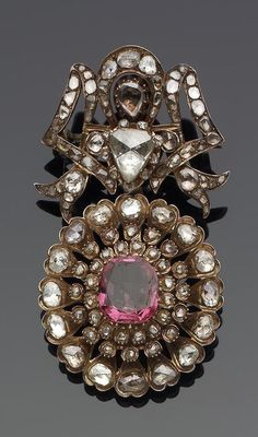 Persia | Qatar diamond and ruby set brooch | 19th century | Est. 8'000 - 12'000£ ~ (Apr '06)