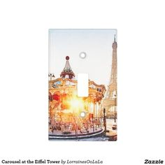 Carousel at the Eiffel Tower Light Switch Plate