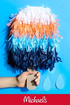 Make this Martha Stewart indigo party popsicle piñata project it is a cute DIY summer birthday party decor idea. Summer Decoration, Summer Party Decorations, Diy Birthday Decorations, Birthday Diy, Summer Birthday, Birthday Parties, Birthday Ideas, Blue Birthday, Party Summer