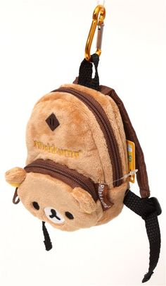 Rilakkuma brown bear backpack plush charm