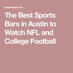 The Best Sports Bars