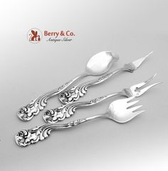Marquis Serving Set Sterling Silver 4 Pieces Frank M Whiting 1889