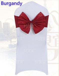Burgandy colour chair sash butterfly style bow tie lycra sash wedding decoration banquet chairs spandex sash wholesale