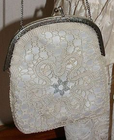 Romanian Lace, Craft Bags, Lace Making, Bobbin Lace, Crochet Lace, Gifts For Women, Coin Purse, Crafts, Accessories