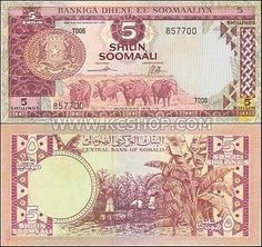 foreign currency photo gallery   Somalia - Somalian banknote pictures