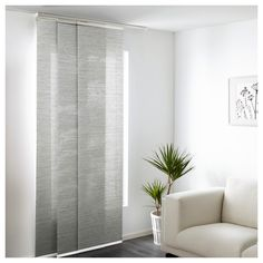 White Panel Curtains Ikea - Curtains that are attractive may have a huge impact for your home decorations. Ikea Panel Curtains, Panel Blinds, Sliding Curtains, Diy Sliding Door, Blinds For Windows, Curtains With Blinds, Curtain Panels, Mini Blinds, Wood Blinds