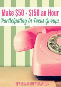 How would you like to make $50 - $150 for a couple hours of your time? Here's a list of research companies that will pay you good money for your opinions! via The Work at Home Woman