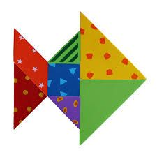 Image result for pinterest-tangrams fish