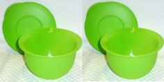 Tupperware Impressions Mini 2 Cup Set of 2 Bowls Lime Green by Tupperware. $15.63. Tupperware 2 cup mini bowls. Air-tight / water-tight seals. Lime Green Color. Set of 2. Dishwasher Safe. Tupperware Impressions Mini 2 Cup Set of 2 Bowls Lime Green