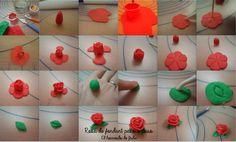 El horneado de Julia: DIY: Rosa de fondat (paso a paso) / Fondant rose ( step by step )