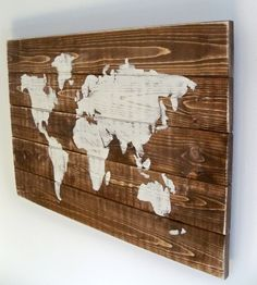World Map Wood Art by Thula on Scoutmob Shoppe