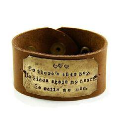 www.etcjewelryshop.com - hand stamped jewelry, hand stamped leather cuff, mommy jewelry