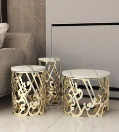 (pas de titre) Makarem Side Tables – This set of three striking side tables can also be used as a coffee table. The famous Arab poet Al Mutanabbi once said: « Resolutions are measured according those who take them. And so much is true for generostiy and i Art Furniture, Luxury Home Furniture, Steel Furniture, Modern Furniture, Furniture Design, Antique Furniture, Furniture Websites, Arabic Decor, Islamic Decor