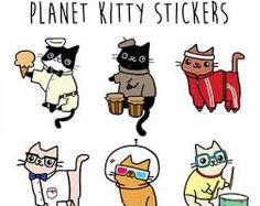 Resultado de imagen para cat sticker sheet