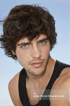 Franck Provost Mittel Braun Männlich Curly gewellte Französisch Herren Haarschnitt Frisuren hairstyles