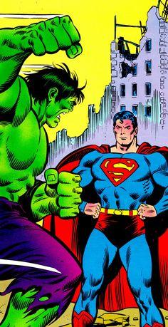 HULK & SUPERMAN By John Buscema (pencils), Joe Sinnott (inks) & Glynis Wein (colors)