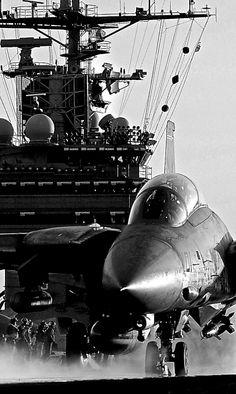 F-14 on deck