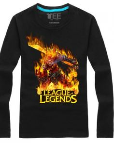 League of Legends Wukong long sleeve t shirt for men The Monkey King-