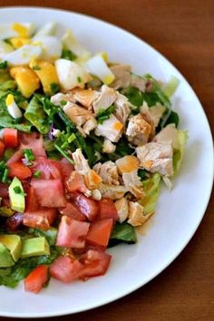 Side Dish Recipes, Side Dishes, Dinner Recipes, Meat Salad, Cobb Salad, Clean Recipes, Healthy Recipes, Keto Recipes, Mexican Chopped Salad