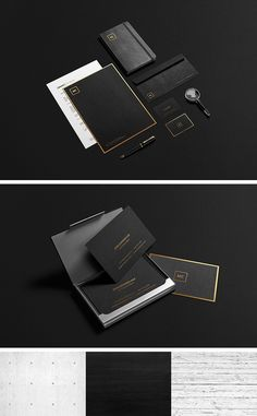 Black and Gold Stationary MockUp