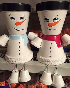 Décoration de Noël bonhomme de neige peint à la par GARDENFRIENDSNJ