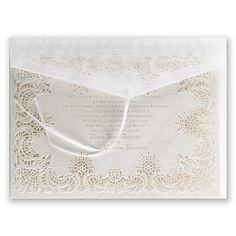 Simply Radiant Laser Cut Wedding Invitation I Unique vintage style wedding invitations at Invitations By Dawn
