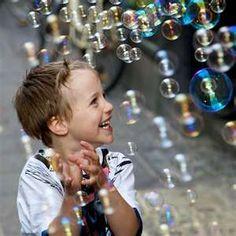 """ღ """"The child amidst his baubles is learning the action of light, motion, gravity, muscular force. My Bubbles, Blowing Bubbles, Soap Bubbles, Live Laugh Love, Happy People, Smile Face, Little People, Beautiful Children, Children Photography"""