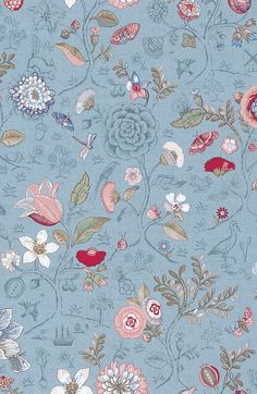 Pip Studio the Official website - Spring to Life wallpaper light blue