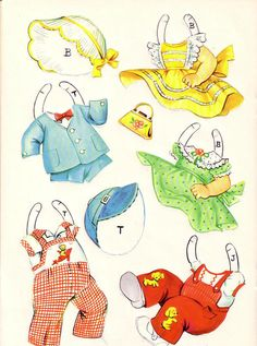 "BABY PAPER DOLLS Published by Saalfield in 1944 and reprinted in 1954. 1959 the same dolls and outfits were reprinted with a different cover, titled ""Baby Dears"" number 4414 and were called ""Statuette Dolls. 2 of 6"