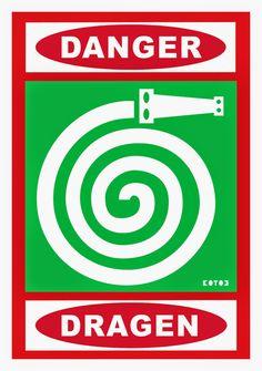 Krzysztof Winnicki: DANGER DRAGEN czyli Smog Wrocławski Company Logo, Signs, Art, Art Background, Shop Signs, Kunst, Performing Arts, Sign, Art Education Resources