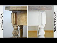 How to: Tisch im Shabby Chic Stil streichen/Wisch- oder Lasurtechnik für die Tischplatte - YouTube