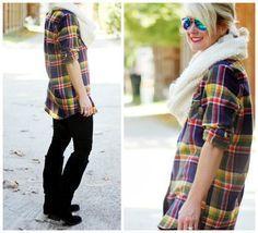 Hi Sugarplum | Plaid tunic + leggings